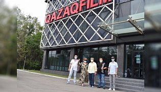"""Kazakhfilm"" film studio was visited by a delegation of the State Center for Support of National Cinema (SCSNC)."