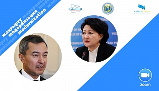 "The president of the ""Kazakhfilm"" studio Akan Sataev presented his vision of the concept of modernization of the film to the Minister of Culture and Sports of the Republic of Kazakhstan Aktoty Raimkulova"